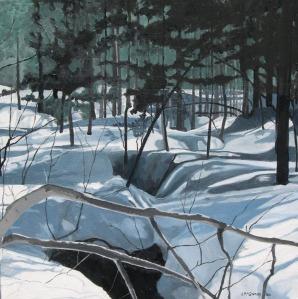 "Winter Visions, Deerhurst,2006, Oil on Canvas, 18"" x 18"""