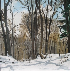 "Lawrence Park in Winter, 2006, Oil on Canvas, 18"" x 18"""