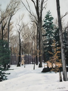 "Sugar Bush Deerhurst, 2006, Oil on Canvas, 16"" x 20"""