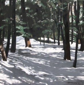 "Forest Shadows, 2006, Oil on Canvas, 16"" x 16"""
