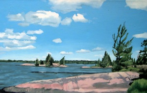 "Hilton's Point, 2009, Oil on Canvas, 24""  x 36"""