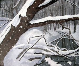"Chatsworth Ravine Flurries # 1, 2010, Oil on Canvas, 24"" x 18"""