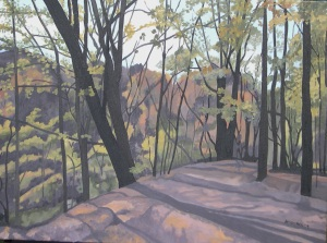 "Autumn in the Park, 2009, Oil on Canvas, 24"" x 18"""