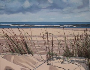 "Grasses Sauble Beach , 2009, Oil on Canvas, 20"" x 16"""