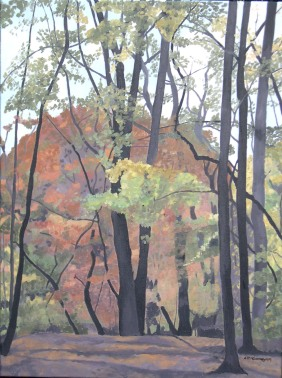 "Indian Summer, 2009, Oil on Canvas, 18"" x 24"""