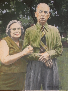 John and Margaret, 2005, Mixed Media on Canvas, 8