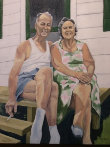 "John and Margaret, 2005, Oil on Canvas, 16"" x 20"""