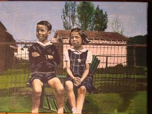 John and Pat, 2005, Mixed Media on Canvas, 10