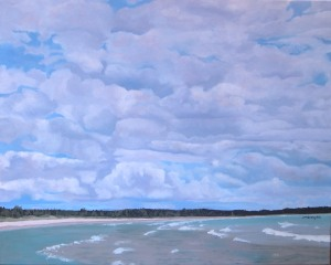 "Lake Huron Sky, 2009, Oil on Canvas, 30"" x 36"""