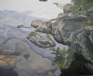 "Morning Reflections , 2007, Oil on Canvas, 20"" x 16"""