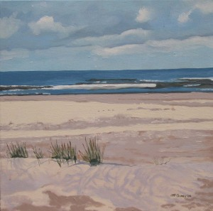 "Sauble Beach View, 2009, Oil on Canvas, 16"" x 16"""