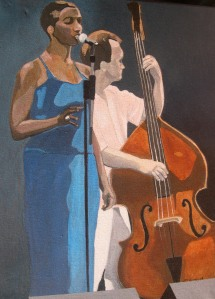 "Shakura Sings , 2008, Acrylic on Canvas, 18"" x 24"""