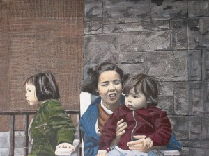 Sisters, 2005, Mixed Media oon Canvas, 12
