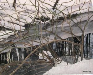 """Winter VinesChatsworth Ravine 2008, Oil on Canvas, 20"""" x 16"""""""