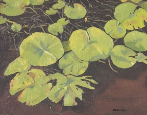 Lily Pads 2010, 16 x 20, Oil