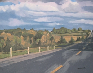On The Road, 2010, 16 x 20,  Oil