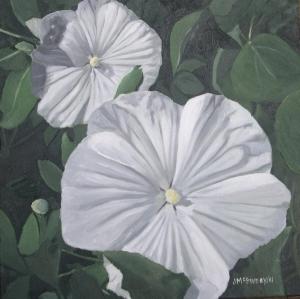 White Hibiscus, 2011, 12 x 12