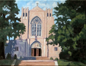 Blessed Sacrament Church, 2012, 16 x 12, Oil on canvas