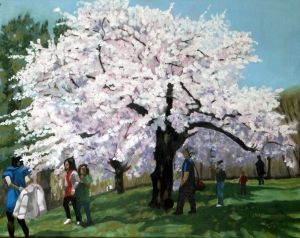 Cherry Blossoms # 2, 2012, 20 x 16. Oil on canvas