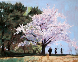 Cherry Blossoms # 4, 2012, 20 x 16, Oil on canvas