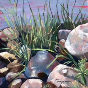 Study, Grasses Lake Wilcox # 2, 2012, 12 x 12, oil on canvas