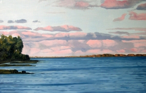 Lake Ontario Summer, 2012, 36 x 24, Oil on canvas