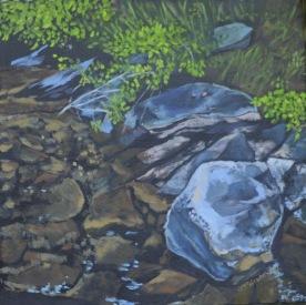 Shoreline Rocks  2014 16 x 16. ii web