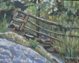 Split Rail  2014 sketch  8 x 10 ii