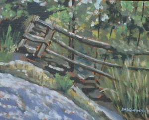 Split Rail  2014 sketch  8 x 10 ii