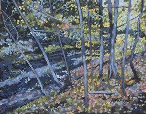 Autumn Woods  No 2,  2015, 10 x 8