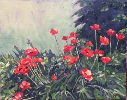 Bed of Poppies 16x20 2017 ii