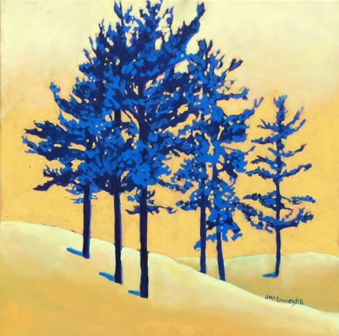Pines Get the Blues 16 x16